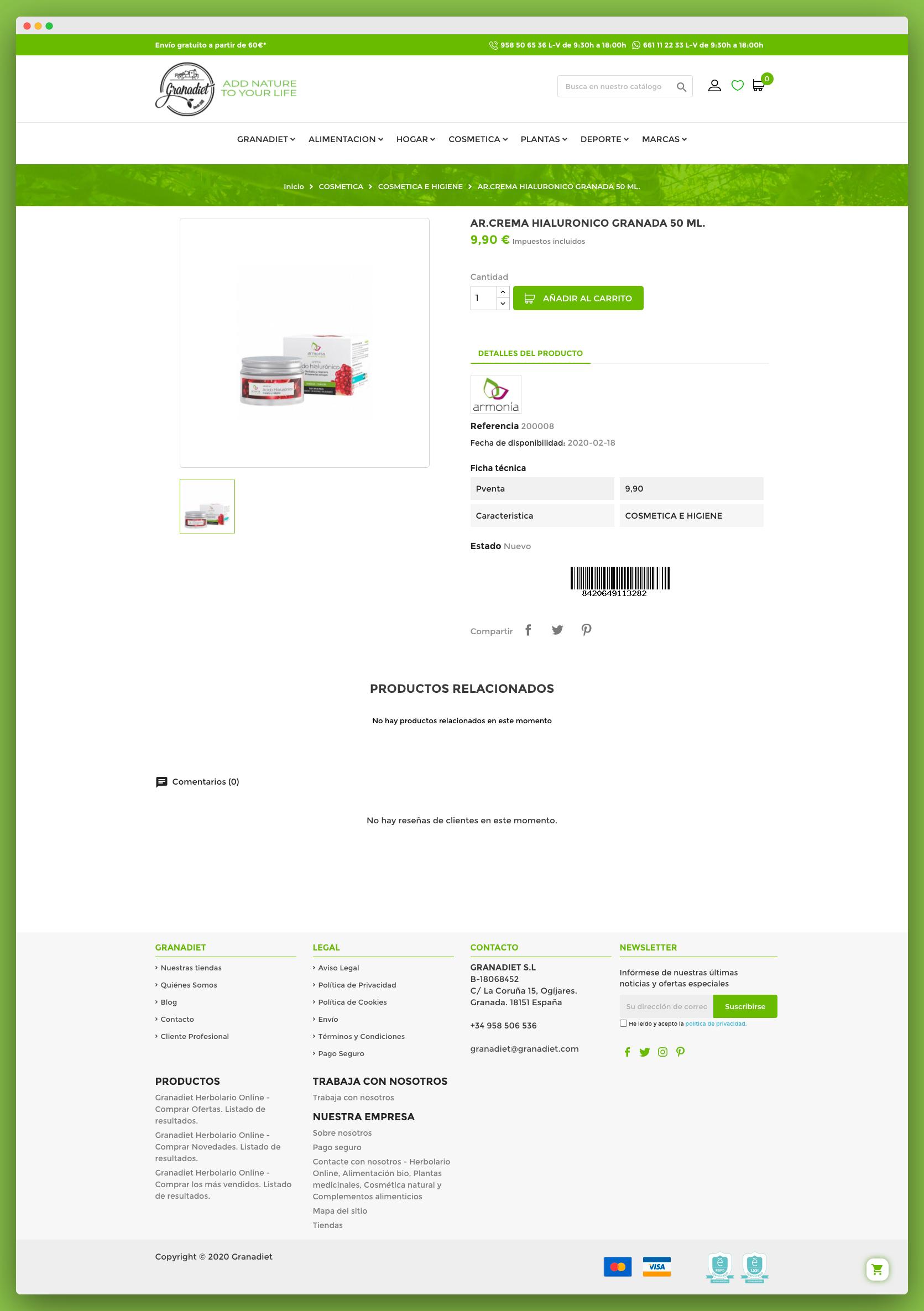 Imagen adicional 2 del proyecto Tienda Online Granadiet